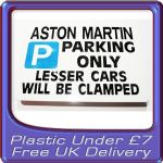 Cheap plastic Parking Sign Gifts under £7